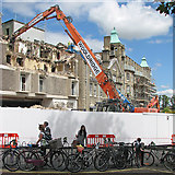 TL4558 : Demolition of part of The University Arms Hotel by John Sutton