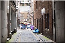NT2574 : Round the back, West Register Street Lane by Jim Barton