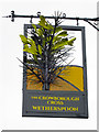 TQ5131 : The Crowborough Cross sign by Oast House Archive