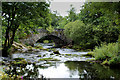 NY3403 : River Brathay at Skelwith Bridge by Chris Heaton