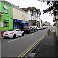 SS5099 : Queueing traffic, Station Road, Llanelli by Jaggery