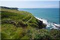 SM7930 : Pembrokeshire Coast Path near Abereiddy by Bill Boaden