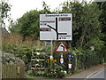 TM2867 : Roadsign on the A1120 The Street by Adrian Cable