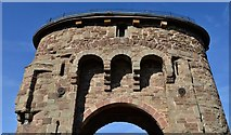 SO5012 : Monmouth: The old gateway on Monnow bridge by Michael Garlick
