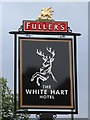 TQ1769 : The White Hart sign by Oast House Archive