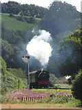 SN4124 : Gwili Railway near Bronwydd Arms by Gareth James