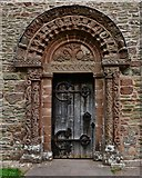 SO4430 : Kilpeck: The church of St. Mary and St. David: The magnificent Norman south doorway by Michael Garlick
