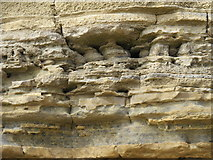 NZ3965 : Erosion at the base of Lot's Wife by Mike Quinn
