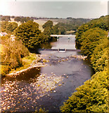 NZ0416 : River Tees at Barnard Castle 1976 by Adrian S Pye