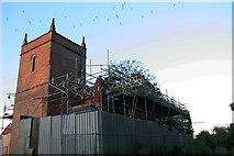 TF4567 : Restoration work at Candlesby Church by Chris