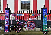 SM9515 : Yarn Bomb Haverfordwest 2015 by Deborah Tilley