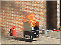 SP9211 : Chip Pan Fire Demo at Tring Fire Station by Chris Reynolds