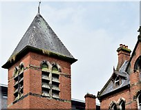 J3473 : Tower, former St Malachy's primary school, Belfast (August 2015) by Albert Bridge