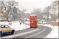TQ3371 : After snowstorm, down Dulwich Wood Park towards West Dulwich, 1985 by Ben Brooksbank