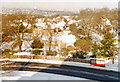 TQ3371 : Wintry scene west from Raleigh Court, Norwood 1985 by Ben Brooksbank