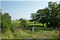 NY8480 : Gate into field east of B6320 by Trevor Littlewood