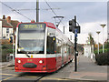 TQ3466 : Tram at Addiscombe by Stephen Craven