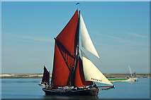 TQ7178 : 'Adieu' at start of 2015 Thames Barge Match by Robin Webster