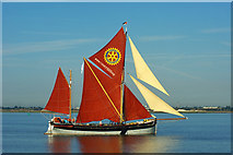 TQ7178 : 'Cambria' at start of 2015 Thames Barge Match by Robin Webster