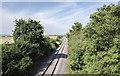 SK7670 : Disused railway line by Julian P Guffogg