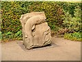 SD7441 : Limestone Sculpture, Clitheroe Castle Sculpture Garden by David Dixon