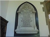 SK2572 : St Anne, Baslow: memorial (v) by Basher Eyre