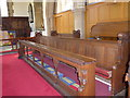 SK2572 : St Anne, Baslow: choir stalls by Basher Eyre