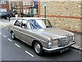TQ3674 : Vintage 1972 Mercedes 220, Lessing Street, Forest Hill by Chris Whippet