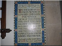 SK2566 : St Katherine, Rowsley: memorial (1) by Basher Eyre