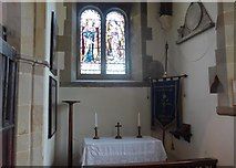 SK2071 : St Giles, Great Longstone:  side altar by Basher Eyre