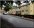 SN5602 : Row of four houses,  Maes y Dderwen, Llangennech by Jaggery