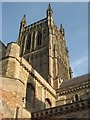 SO8554 : Worcester Cathedral Tower by Philip Halling