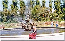 TQ2882 : Ornamental Pond and Triton Fountain, Regents Park 1989 by Ben Brooksbank