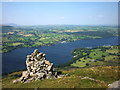NY4520 : Cairn overlooking Ullswater, Arthur's Pike by Karl and Ali