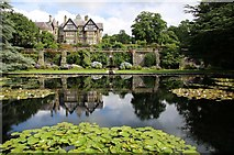 SH7972 : Lily pond in front of Bodnant Hall by Steve Daniels