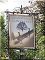 TL7851 : Brand new sign for the Stansfield Compasses by Adrian S Pye