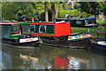 SU9844 : Canal boats, River Wey Navigation by Alan Hunt