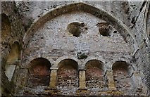 ST5394 : Chepstow Castle: Niches at the west end of the great tower by Michael Garlick