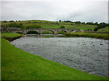 SE0361 : Burnsall Bridge, from the south by Carroll Pierce