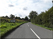 TM1763 : Entering Debenham on the B1077 Aspall Road by Adrian Cable