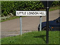 TM1763 : Little London Hill sign by Adrian Cable