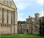 NZ1198 : Brinkburn Priory & Manor House by Andrew Curtis