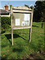 TM1664 : St.Mary of Grace Church Notice Board by Adrian Cable
