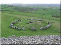 N5877 : On Cairn 'T' Slieve na Calliagh - View to adjacent stone circle & cist by Colin Park