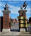 TQ1568 : Entrance to Hampton Court Palace by Mat Fascione
