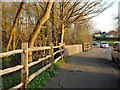 SP1095 : Fence and bridge parapet by a layby, Stonehouse Road nearing Sutton Park by Robin Stott