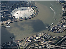 TQ3980 : The O2 Arena from the air by Thomas Nugent
