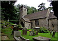 SO3700 : Entrance to St Madoc's Church Llanbadoc by Jaggery