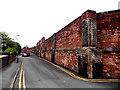 SJ4913 : Wall of a former prison, Shrewsbury by Jaggery