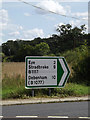TM1172 : Roadsign on the B1117 Yaxley Road by Adrian Cable